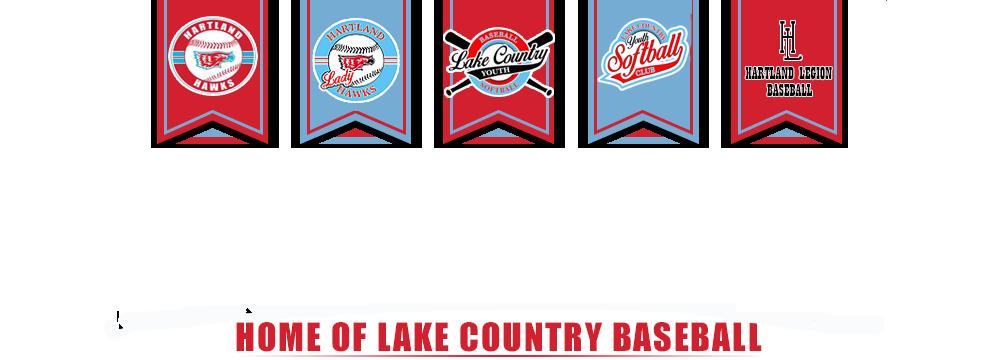 Lake country youth baseball logo banner