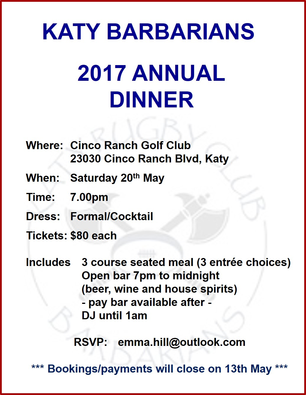 Templates 2017 formal dinner invitation details stopboris Image collections