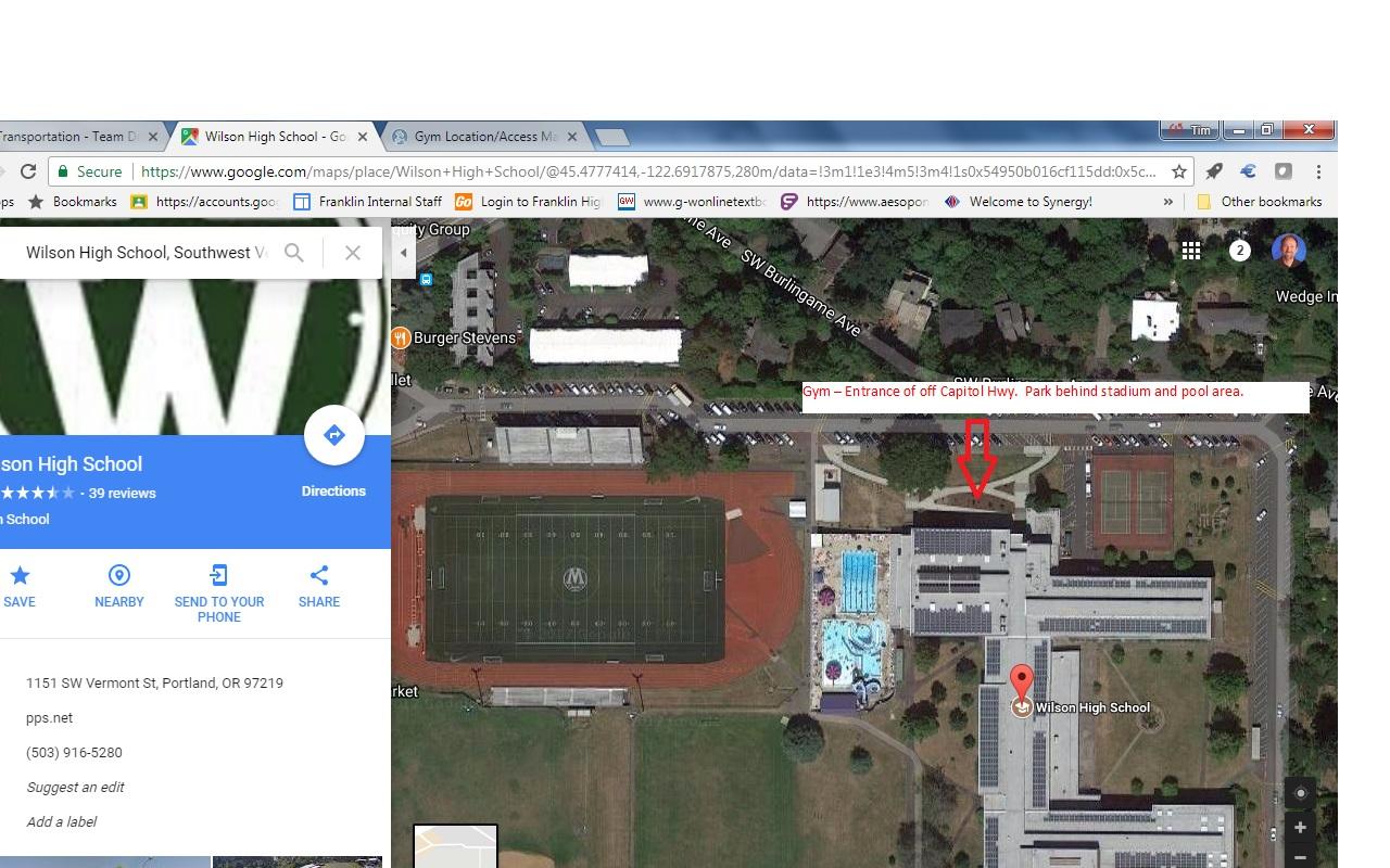 Hs Gym Location Access Maps