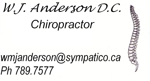 Anderson chiropractic july 21