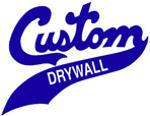 Custom drywall logo blue