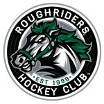 Roughriders hockey club white letters
