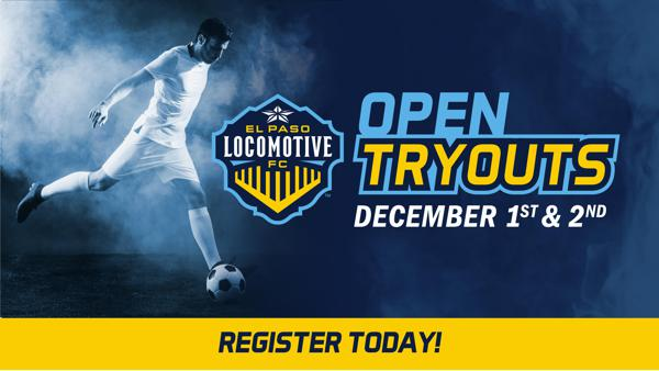 El Paso Locomotive FC to Hold Open Tryouts December 1 and 2