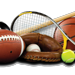 various equipment used in multiple sports