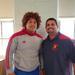 Darlyn Uceta standing next to Coach Juan Namnun