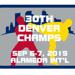 The patch from the 30th Denver Martial Arts Championships