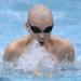Lyons sophomore Weston Credit swims