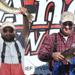 Carl Knutson (left) and Brad Davis (right) showcase their biggest catches of the day after being crowned 2013 Anderson-Kraus Walleye Classic champions. One-hundred teams participated in Saturday's tournament, making this the first year the competition has