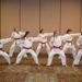 Karate girls doing a knife hand strike