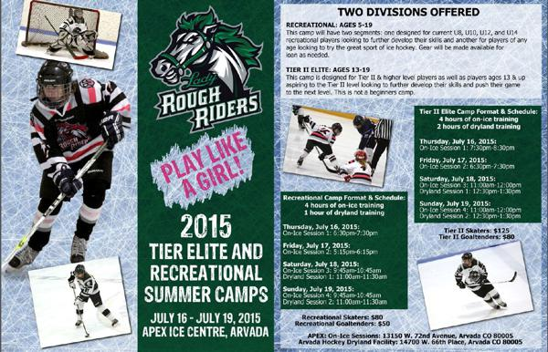 2015 Tier Elite and Recreational Summer Camp