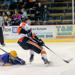 Mitchell Mattson of Grand Rapids comes in on a breakaway.