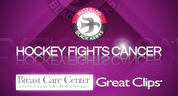 half off 7a1c1 cb712 Hockey Fights Cancer at Young Arena