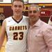 Kyle Cross with coach Mike Ricci