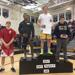 Jake Maxwell on top of the 160-pound class
