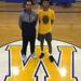 Coach Justin Barringer with Aaron Estrada