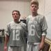 L to R - Senior defender Jake McCaughan and Ethan Kazmierski, a senior midfielder,
