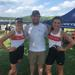 Zoe Glasgow, Samantha Kelsey and Coach Nelson Mills