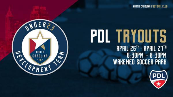 NORTH CAROLINA FC U23 ANNOUNCES OPEN TRYOUTS