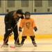 Buffalo Beauts Morgan Beikirch with Webster's Madelyn Muroski at Webster Ice Arena Clinic