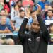 Julian de Guzman applauds the home crowd