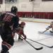 Alex Peresunko skates in a game for the Pics Premier team