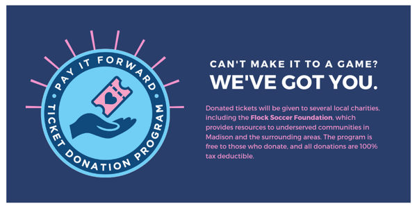 Pay It Forward - Ticket Donation Program Launches