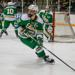 Edina's Ben Brinkman skates the puck out of his zone. Photo by Mark Hvidsten, SportsEngine
