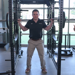 Physical Therapist Joshua Vaughan demonstrates safe lifting techniques