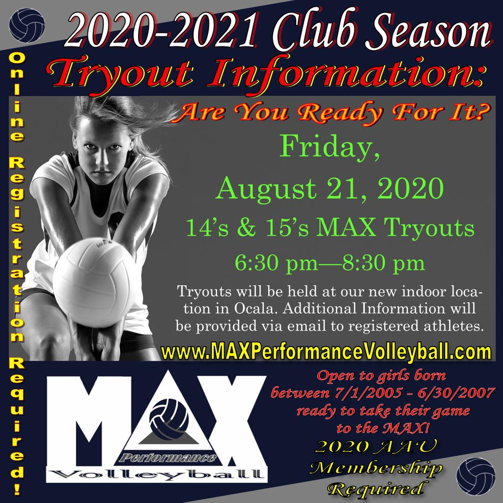 14'S & 15's Tryouts