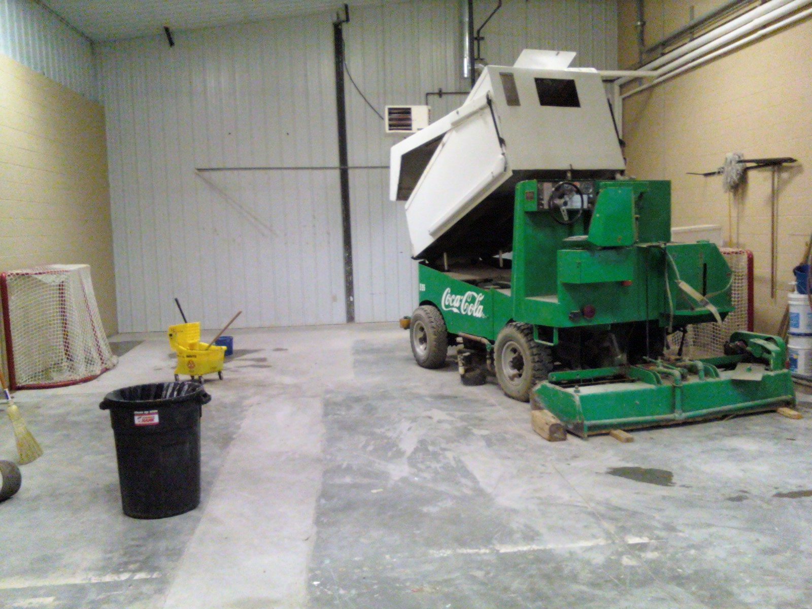 Continued preparation photos east grand forks hockey for Floor zamboni