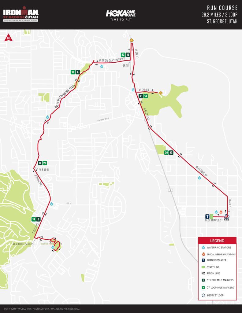 IRONMAN St. George run course