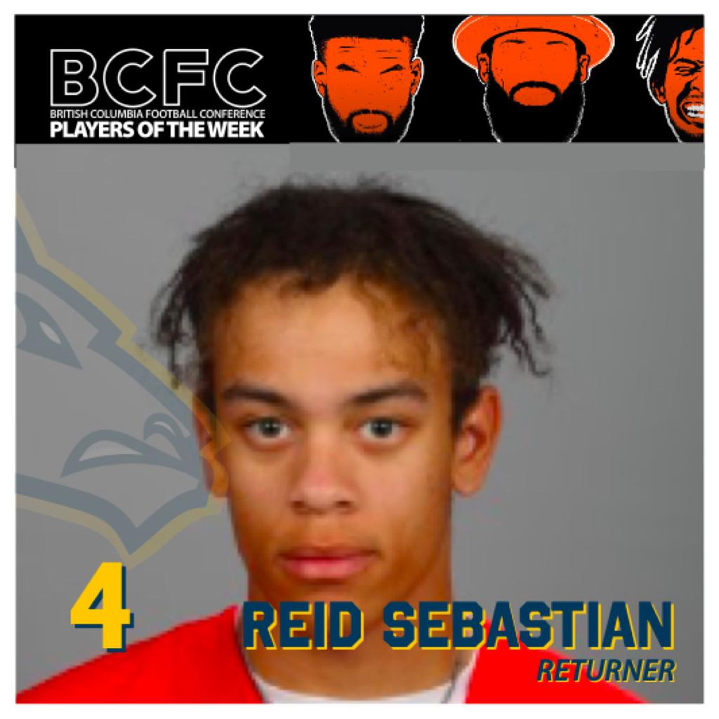 WEEK ONE: BCFC SPECIAL TEAMS PLAYER OF THE WEEK - Sebastian Reid, Returner Langley Rams