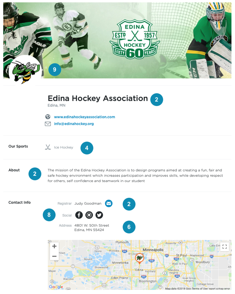 Edina Hockey Association Organization Page
