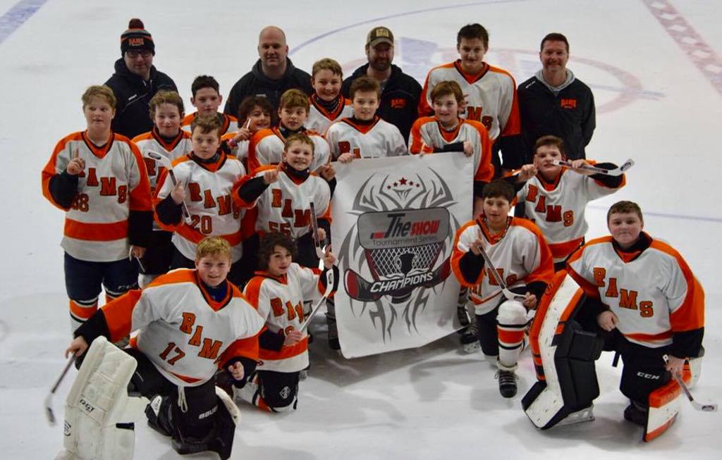 Rams PeeWee A Green Puck Classic Fraser Tournament Champions