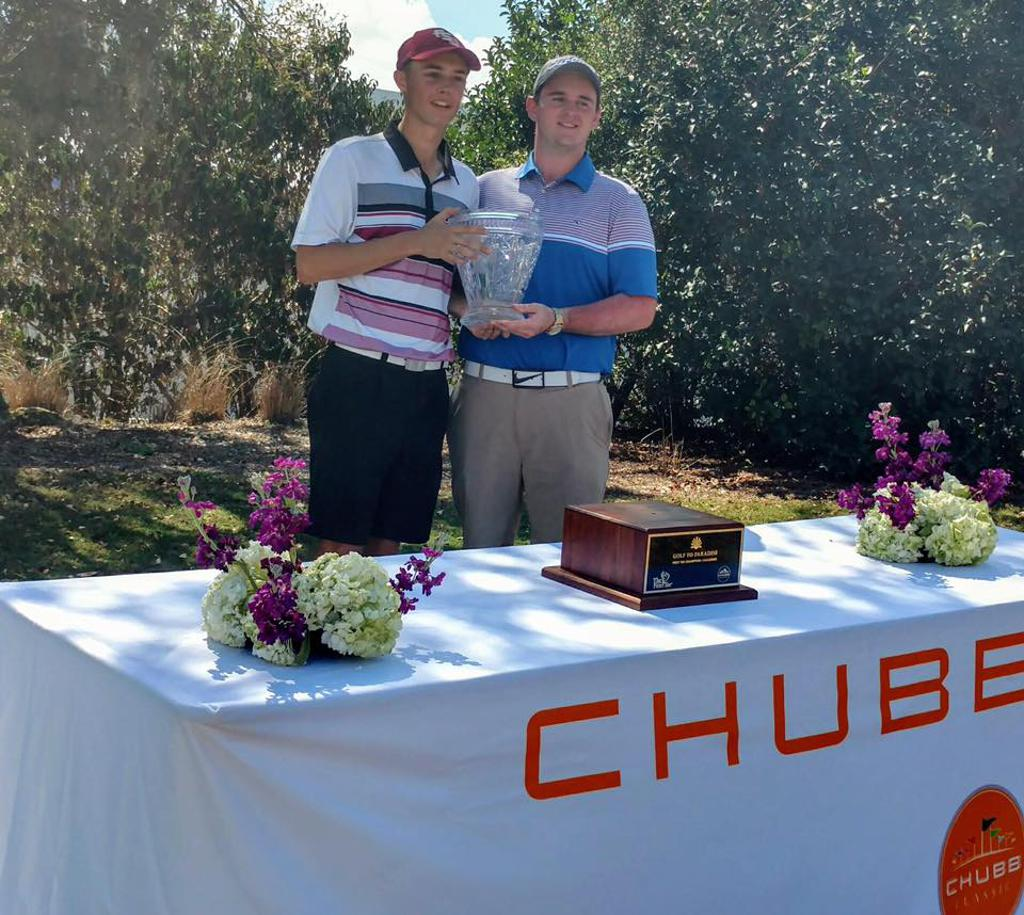 Congrats TFT Twin Cities Junior Participant's David Kehr & Parker Reddig who did Win 1st Place at The Chubbs Classic in Twin Eagles Golf Club, Naples Florida!.  Tournament was in Febuary 2017 (Good Job guys!)