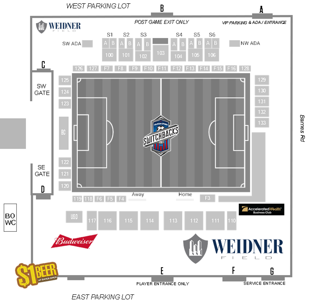 Weidner Field Operations Layout