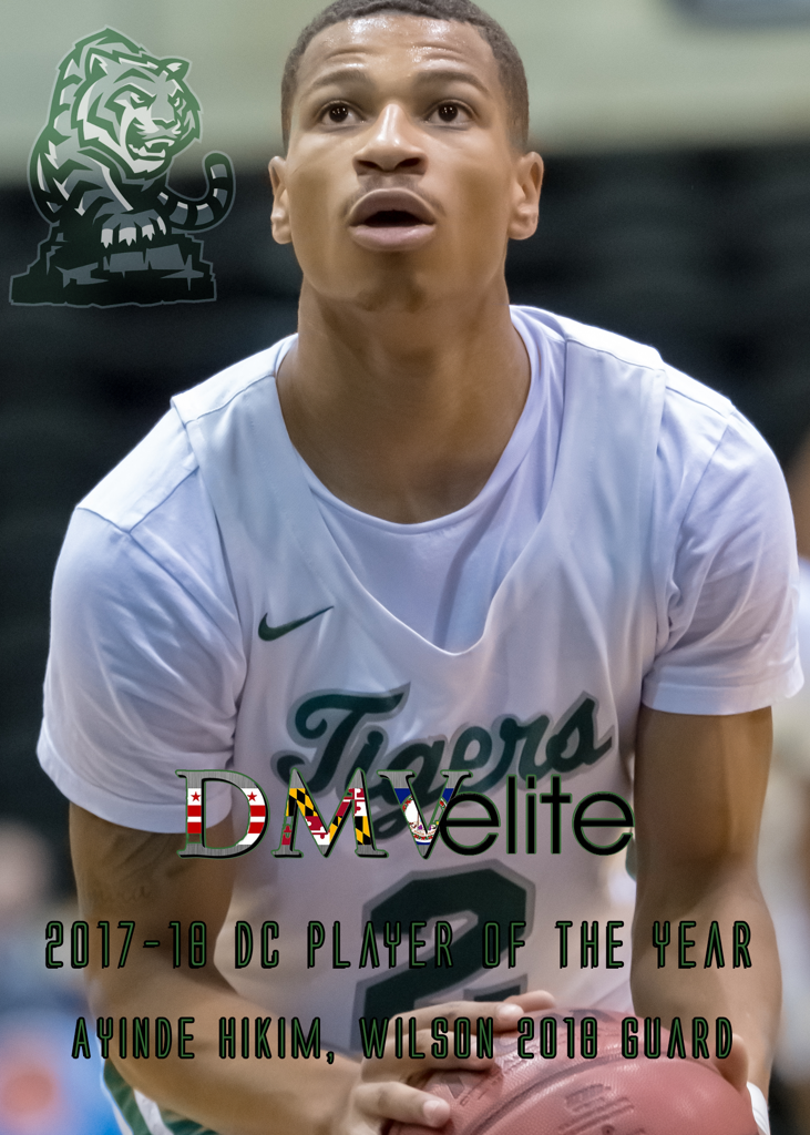 2017-18 DMVelite DC Player Of The Year Ayinde Hikim.