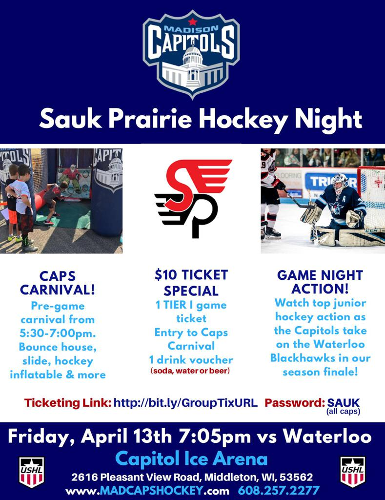 Sauk Prairie Night With the Capitals