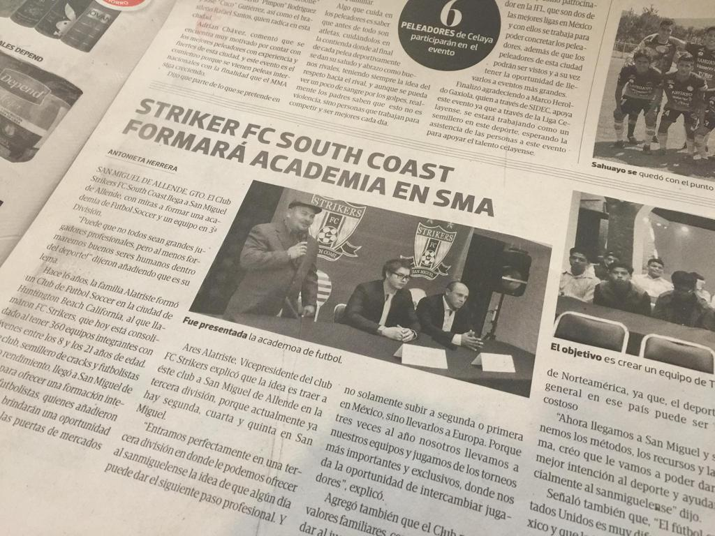 Strikers FC - South Coast forms Academy in San Miguel de Allende