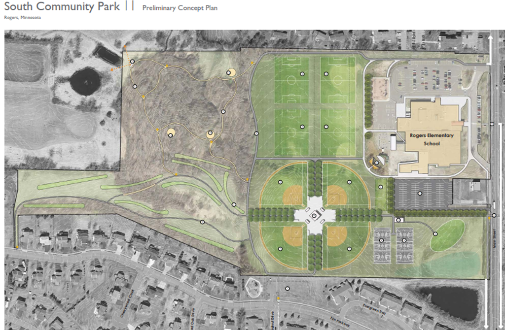 earth view of proposed park