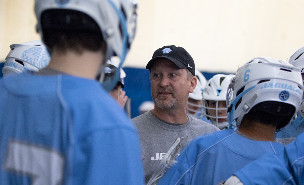 Bloomington Jefferson coach Scott Cater recently claimed his 200th career win and is the first coach to do so in Minnesota boys' lacrosse. Photo by Jeff Lawler, SportsEngine