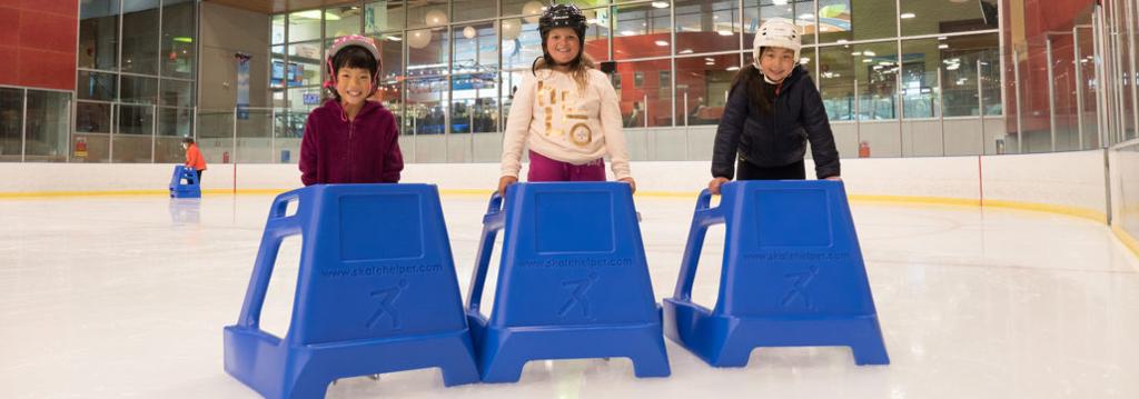 Children using Skate Helpers