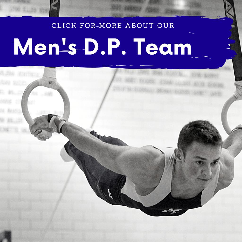 Men's DP Team link - man practicing skills on rings