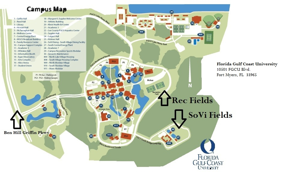 for the campus rec fields unless otherwise noted the fgcu campus ...