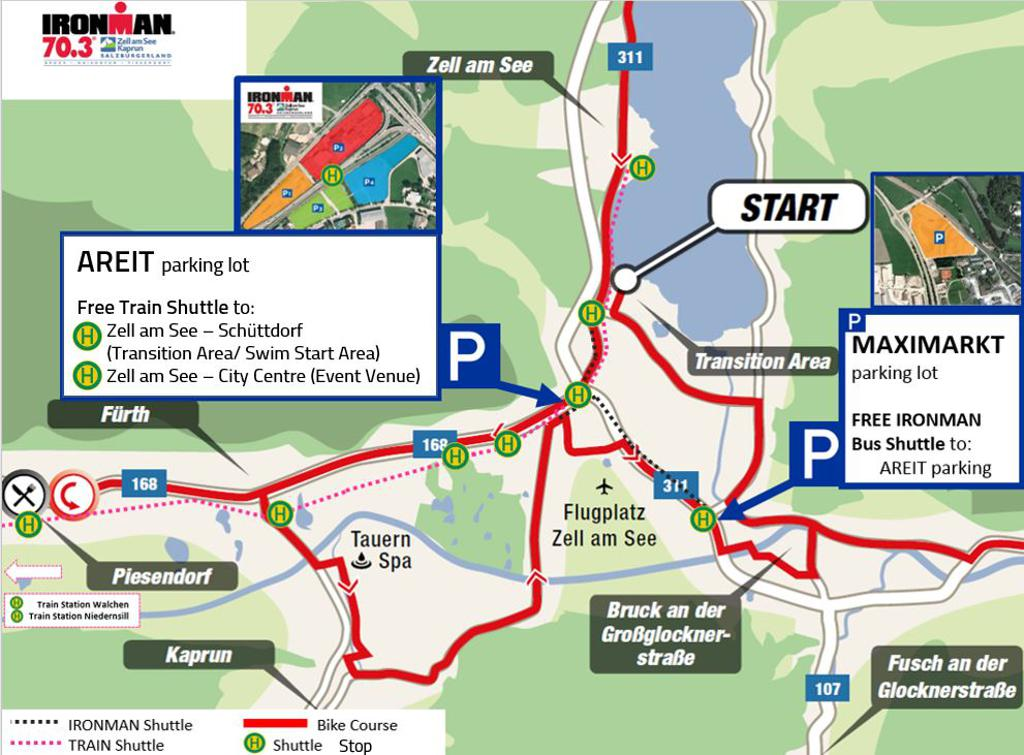 Parking & Shuttle IRONMAN 70.3 Zell am See-Kaprun
