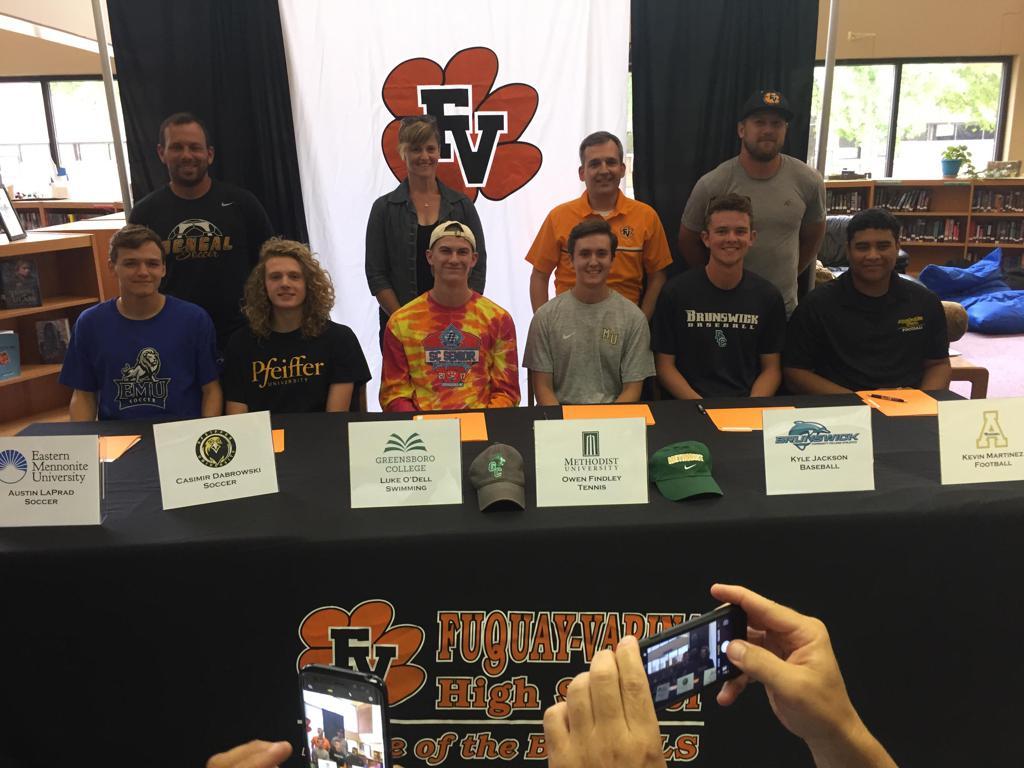 fuquay-varina men's soccer college signees