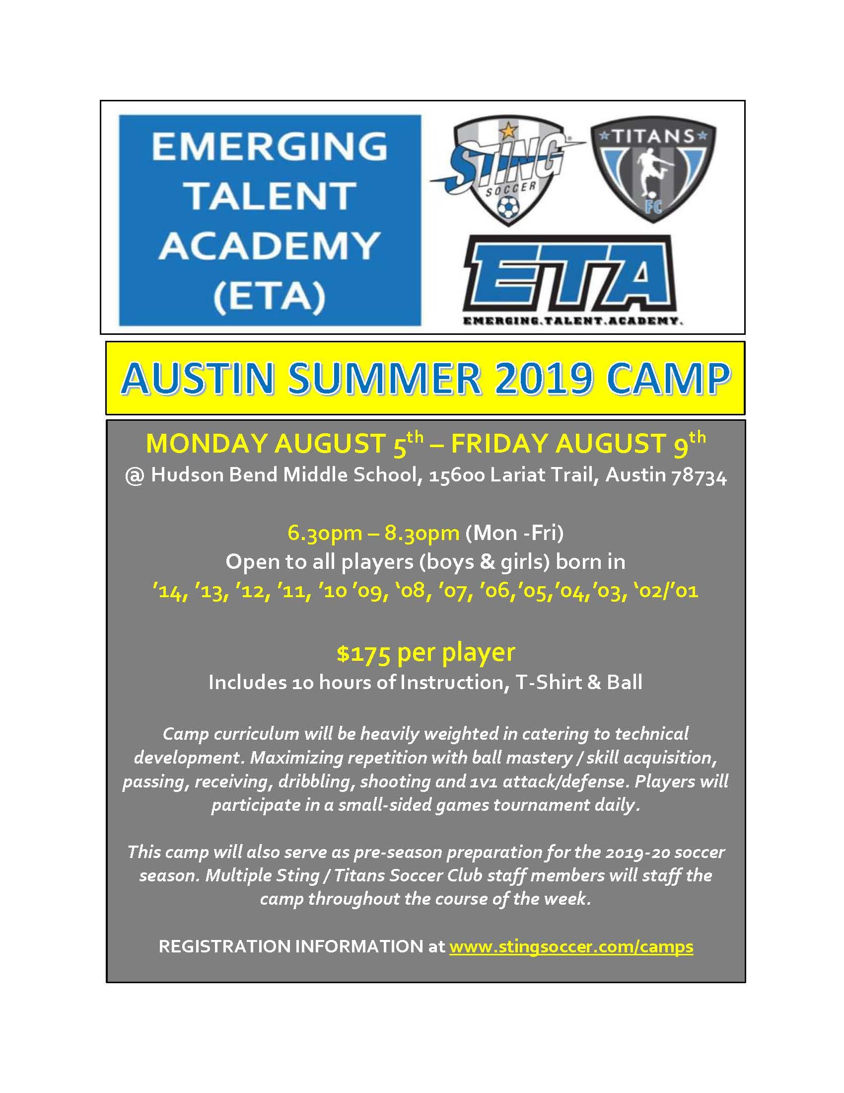 Austin ETA Summer Camp