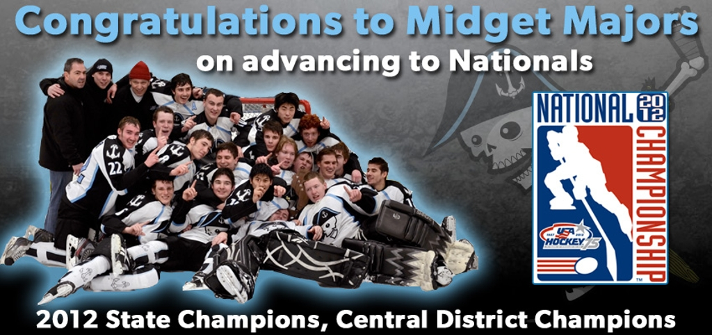 Midget Majors - 2012 State Champs, Central District Champs, National Tournament Participants