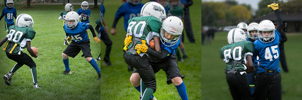 Kids playing TackleBar football