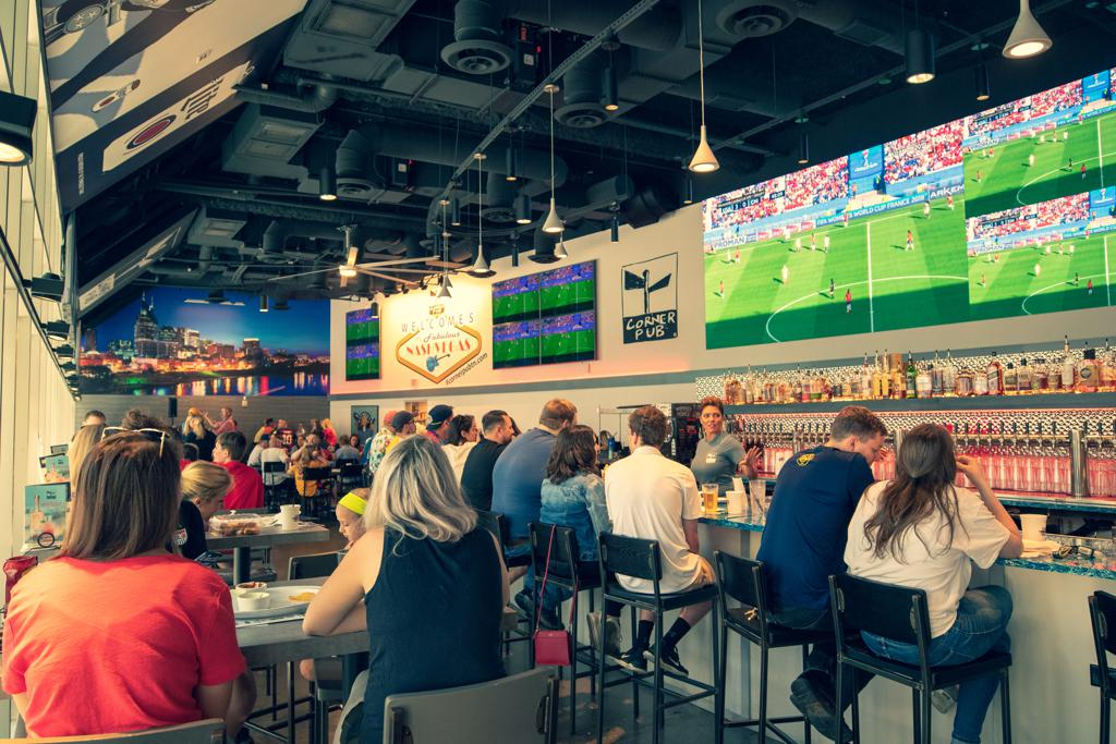 Nashville SC watch party at Downtown Sporting Club